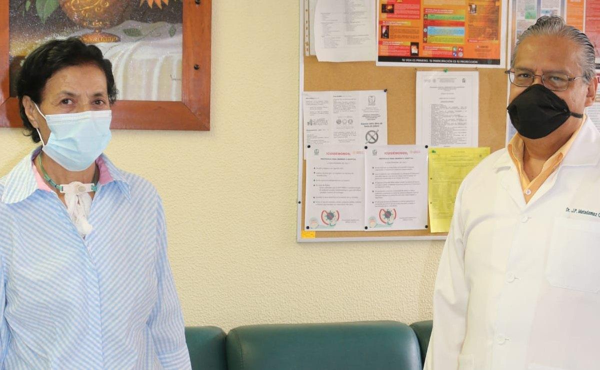 A los 64 años, la enfermera María del Rosario venció al Covid-19, tras 50 días con apoyo ventilatorio
