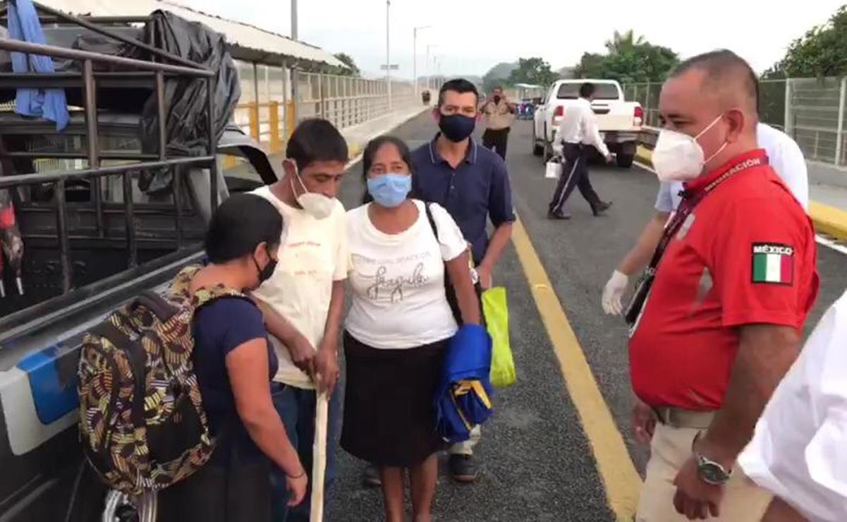Salvan Grupos Beta de Ixtepec a joven migrante enfermo, y logran reunirlo con su familia en Guatemala