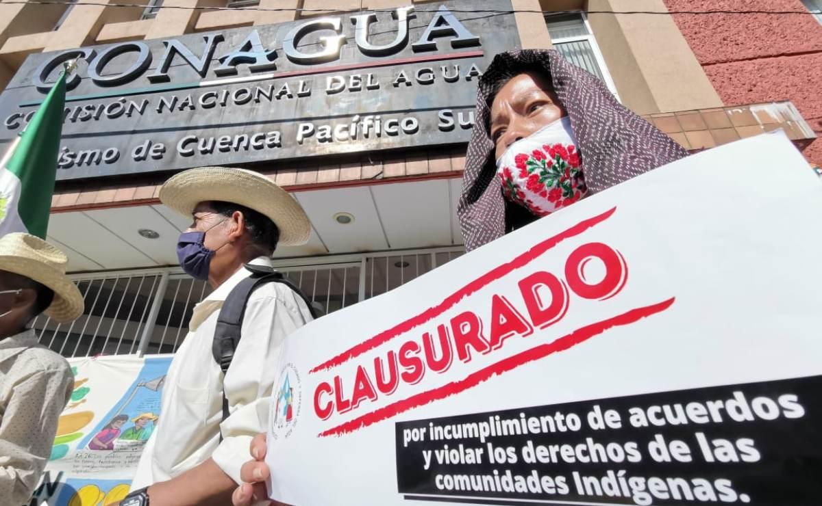 Con clausura de Conagua, pueblos zapotecos exigen cumplir con acuerdos sobre uso de su agua