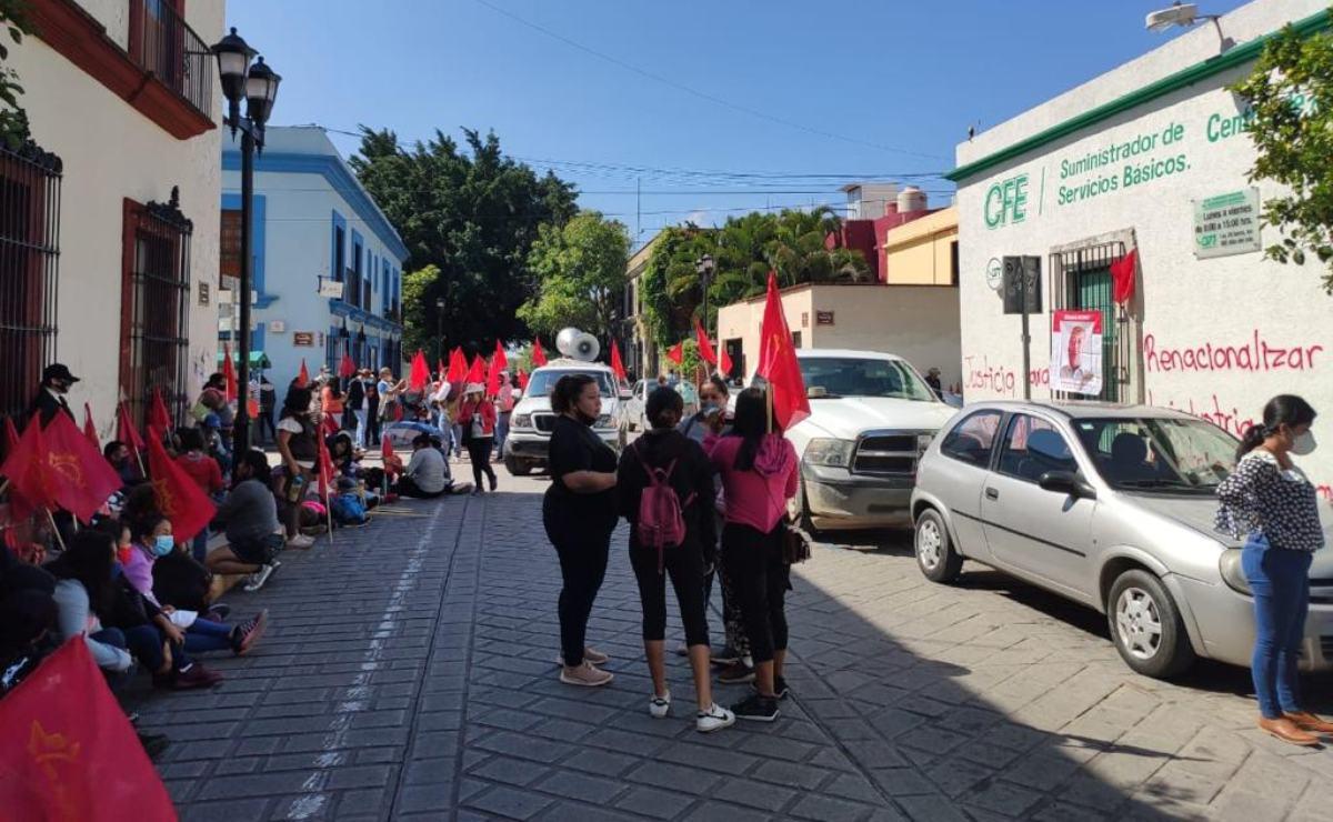 Protestan comunidades indígenas contra la CFE; piden condiciones dignas para enfrentar la pandemia