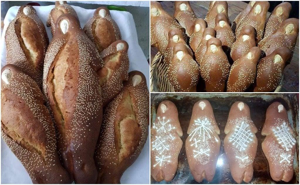 Pan de muerto con forma humana, legado culinario de Yalálag que llega incluso al extranjero
