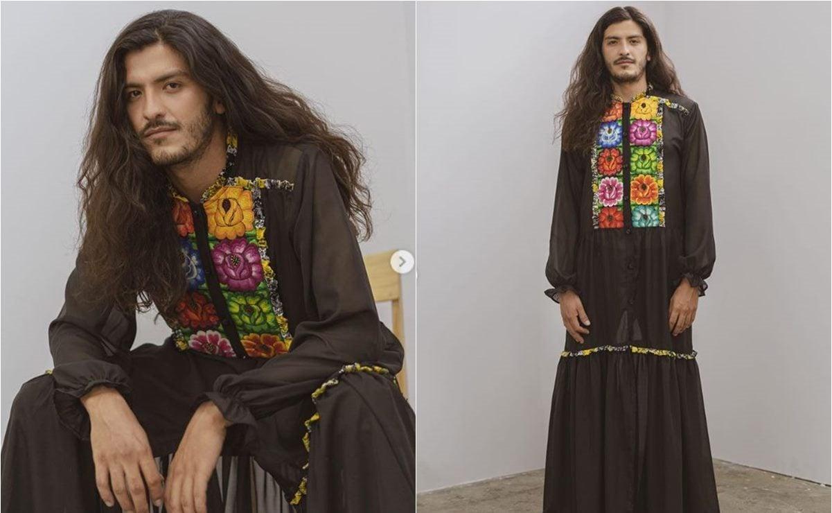 Artesanos de Oaxaca colaboran con tejido istmeño en nuevo vestido para hombres