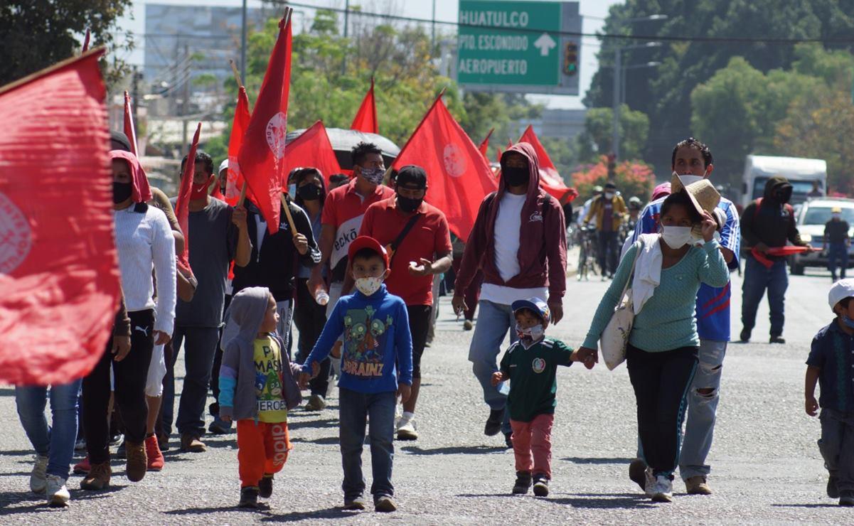 """Marcha Frente """"14 de Junio"""" para exigir justicia por asesinato de mototaxista en la capital"""