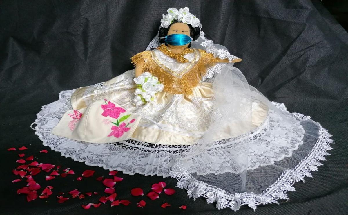Muñeca istmeña de talla extra gana concurso de Arte Popular ante el coronavirus