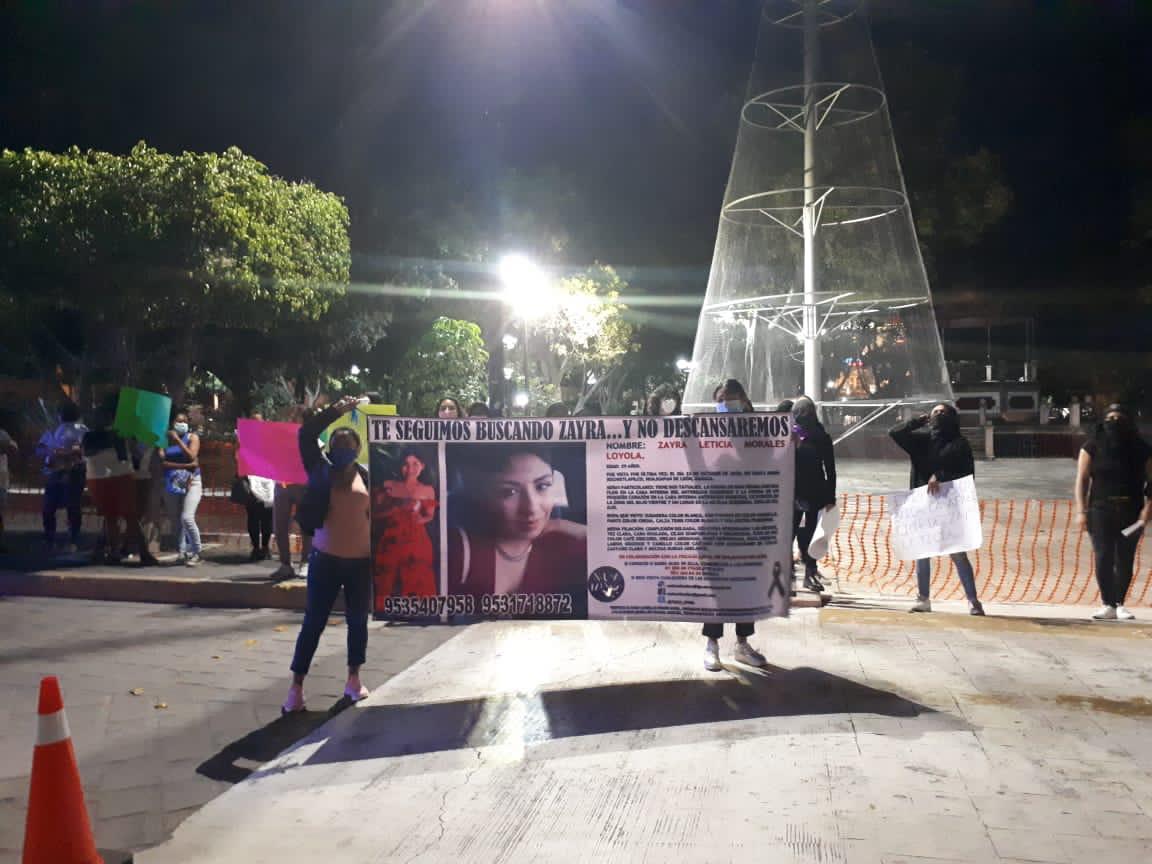 Con marcha en la Mixteca, exigen aparición con vida de Zayra