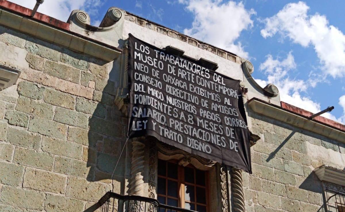 Agoniza Museo de Arte Contemporáneo de Oaxaca; no hay recursos ni para salarios