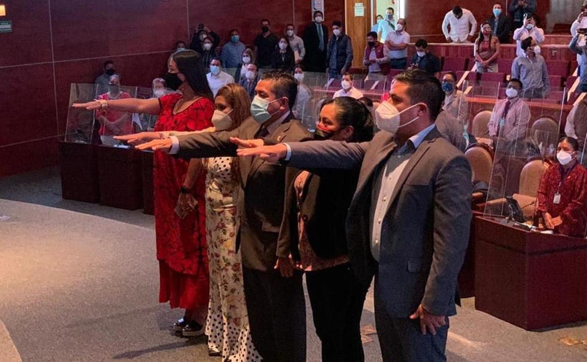 Designan nueva Mesa Directiva en el Congreso de Oaxaca; presidirán Arsenio Mejía y Arcelia López