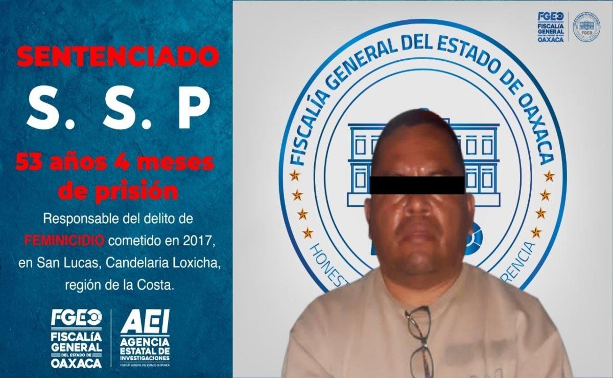 Sentencian en Oaxaca a 53 años de prisión a hombre por feminicidio de su esposa