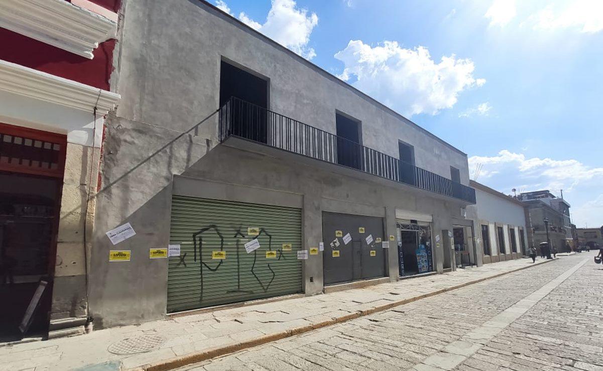 Indigna remodelación de edificio en la capital de Oaxaca; irrumpe Patrimonio Mundial, denuncian