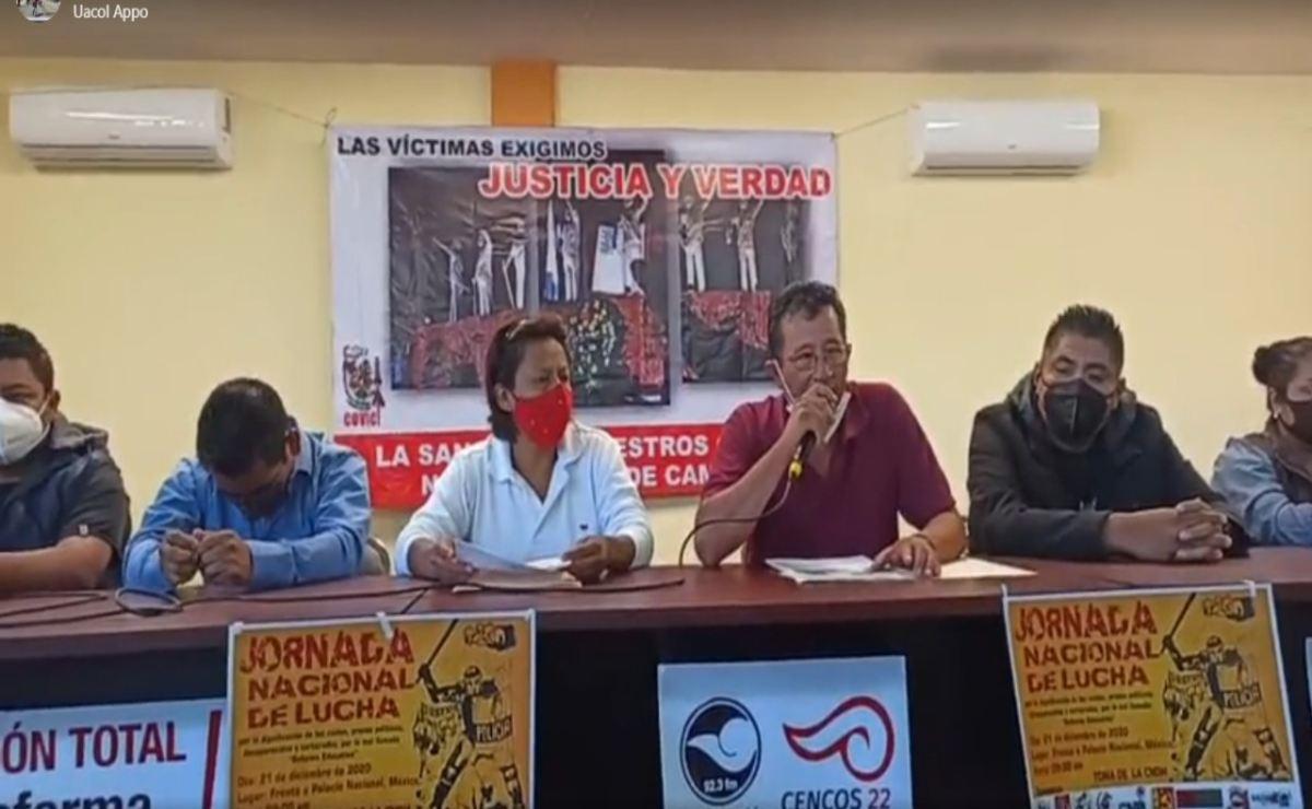 Rechazan víctimas de Nochixtlán disculpa pública del Presidente; anuncian protesta en la CDMX