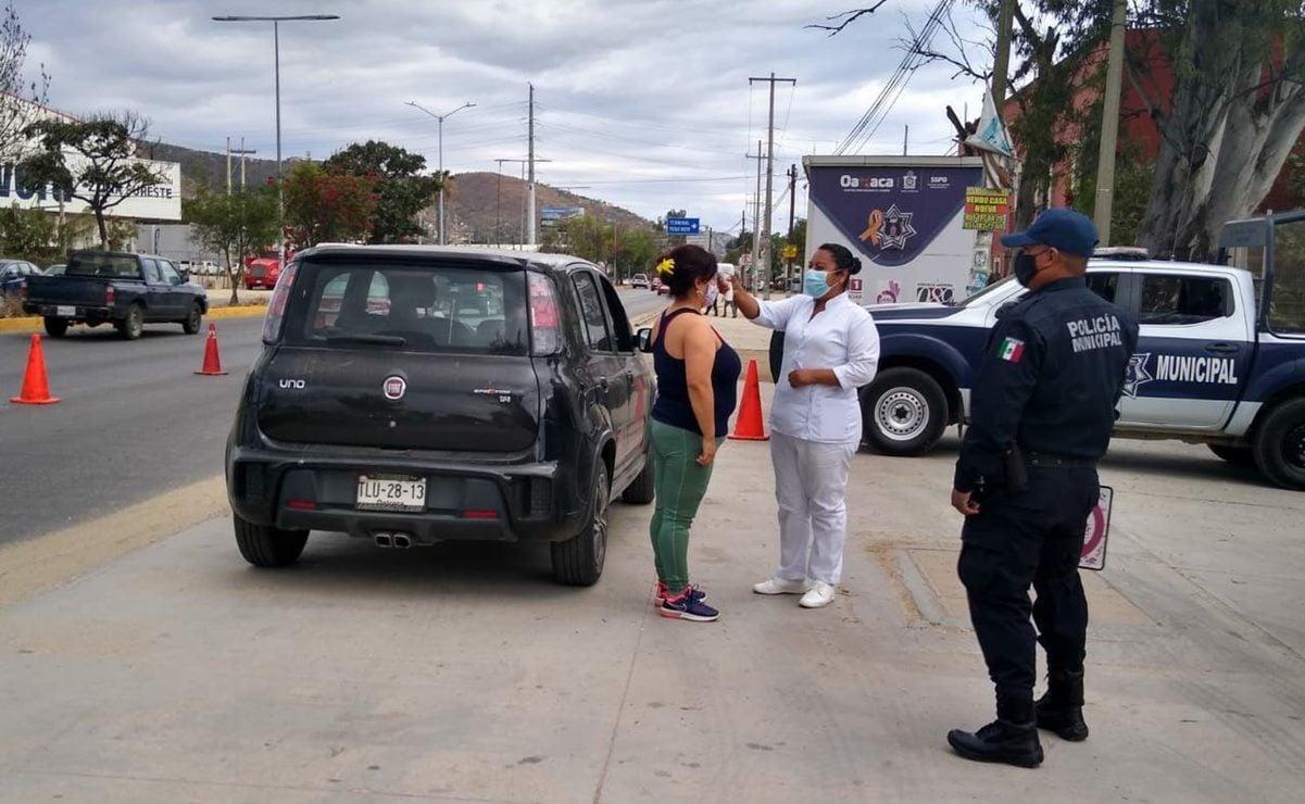 Implementa ciudad de Oaxaca filtros sanitarios contra Covid-19 por temporada decembrina