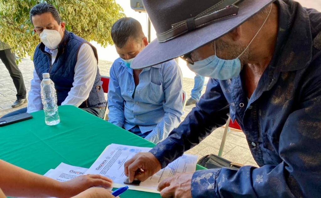 Firman San Pedro Taviche y San Jerónimo Taviche convenio que pone fin a 80 años de conflicto