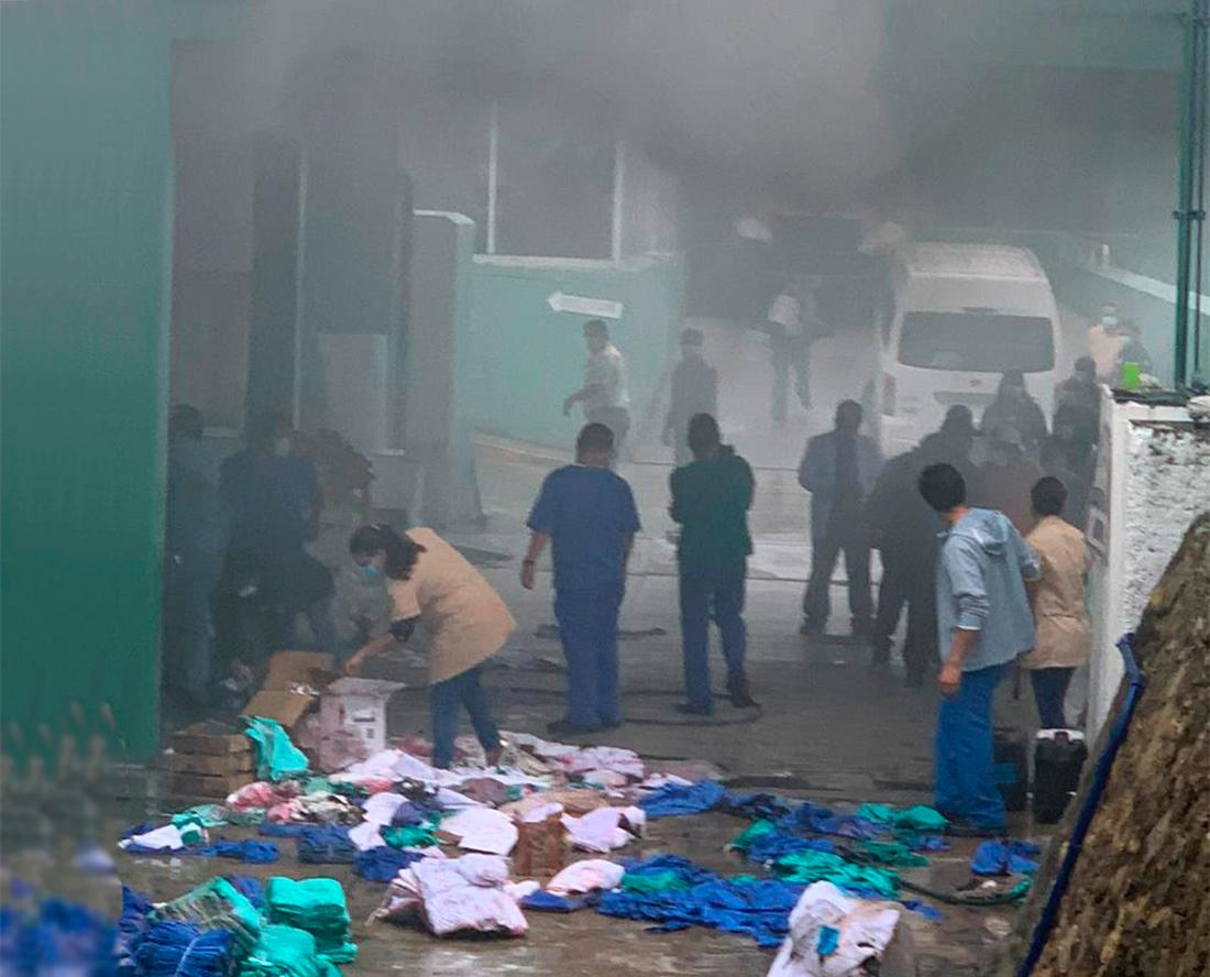 Se registra conato de incendio en hospital del IMSS en Tuxtepec; sólo hay daños materiales