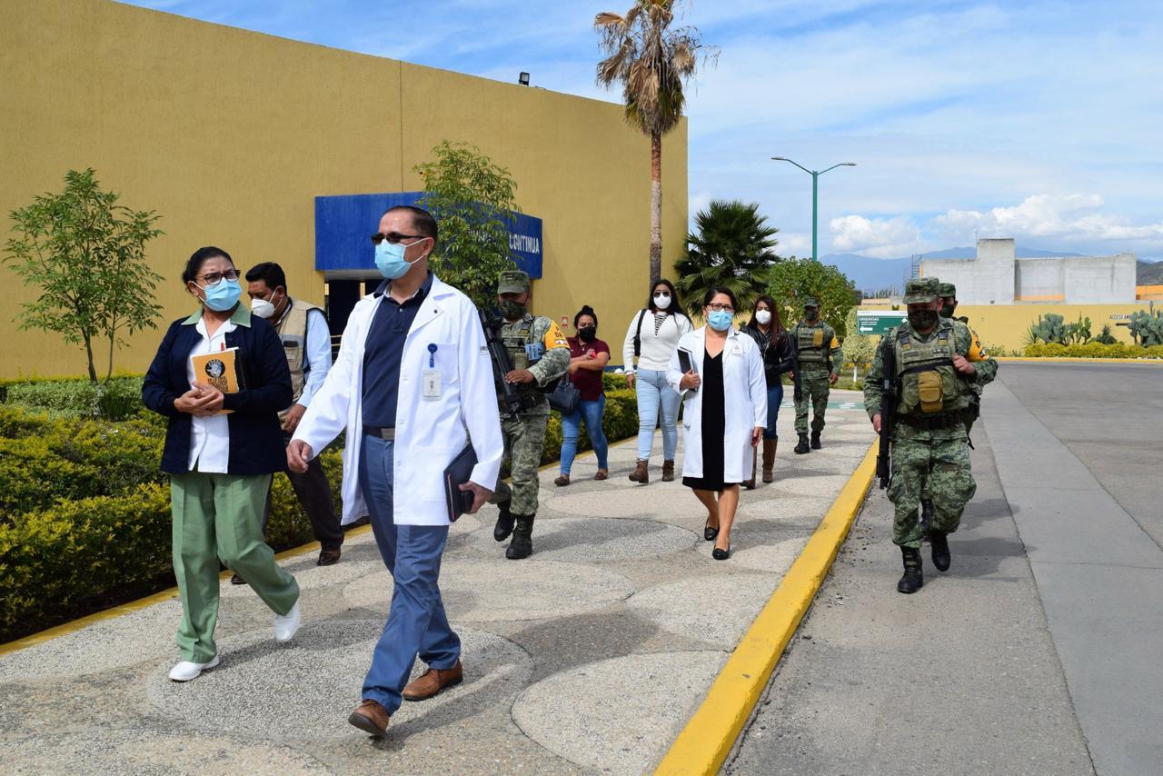 """Con """"Brigada Correcaminos"""", se alista Hospital de Especialidades de Oaxaca para vacunación contra Covid-19"""