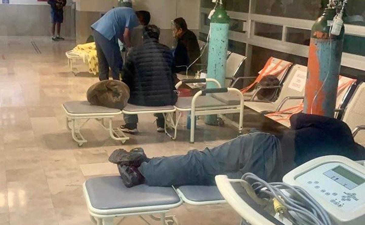 """Muestran en Oaxaca a pacientes con tanques de oxígeno en el ISSSTE; """"no hay camas ni ventiladores"""", advierten"""