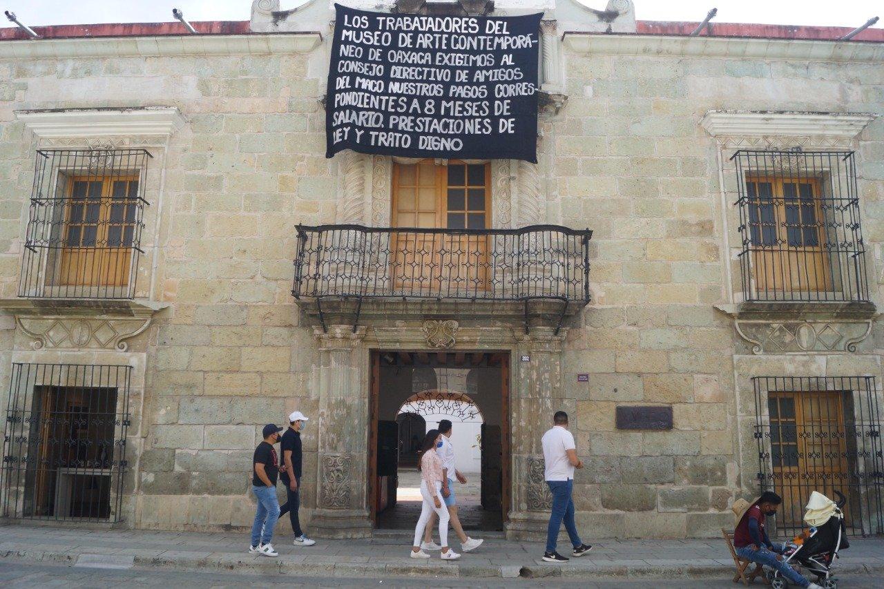 Seculta no descarta intervenir en conflicto en Museo de Arte Contemporáneo de Oaxaca