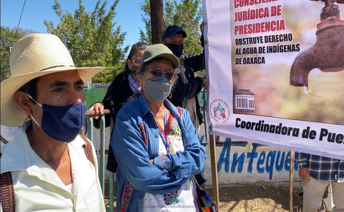 Pueblos zapotecos de Oaxaca denuncian que la Consejería Jurídica de Presidencia obstruye su derecho al agua