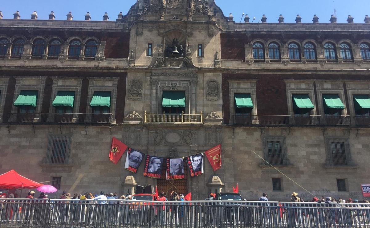 Con protesta en Palacio Nacional, FPR de Oaxaca exige atención de la 4T a comunidades marginadas