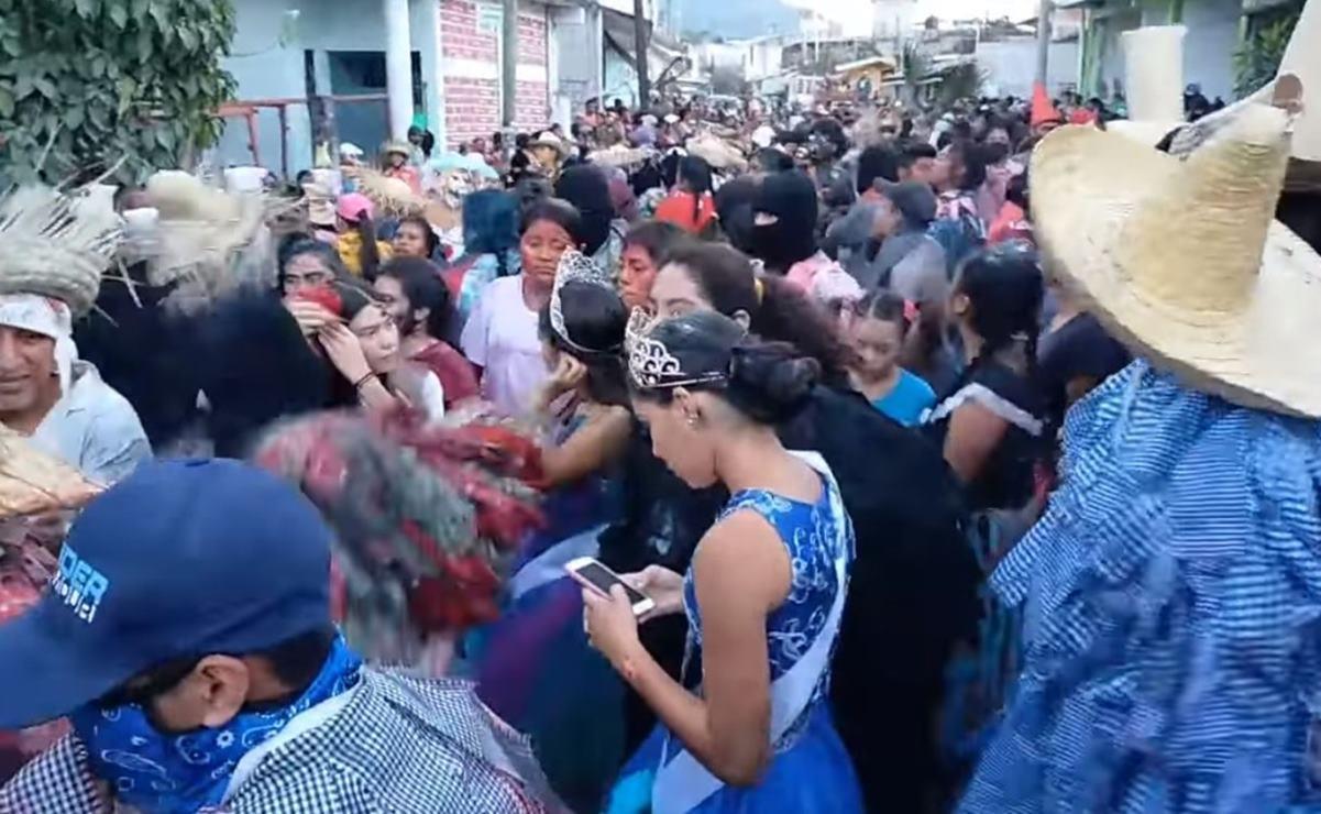 Celebran por 5 días carnaval Tacuate en Santa María Zacatepec, pese alerta de Covid-19 en Oaxaca