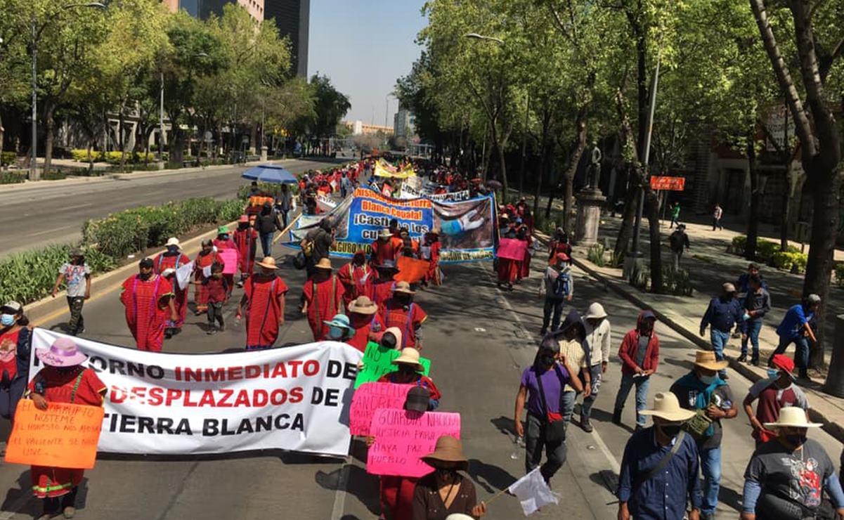 Con bloqueos en CDMX, triquis de Oaxaca exigen retorno seguro de familias desplazadas por violencia