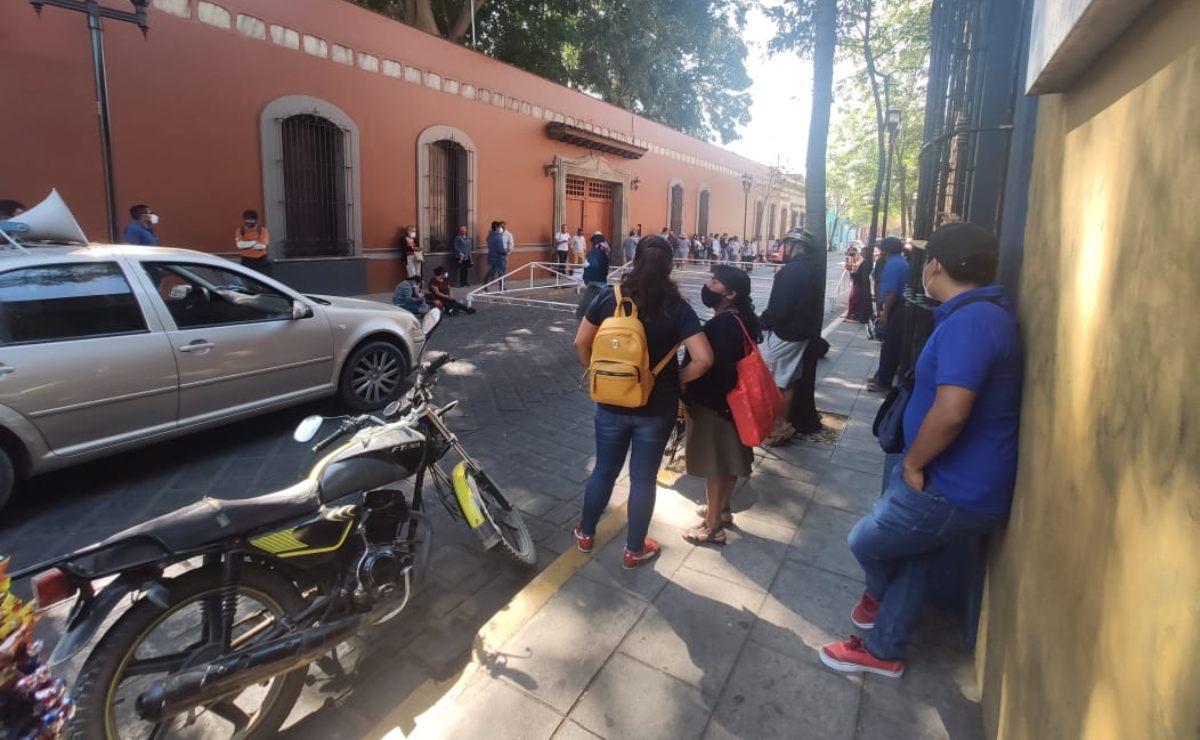 Con protesta, integrantes del MULT de la capital y los Valles Centrales exigen servicios básicos
