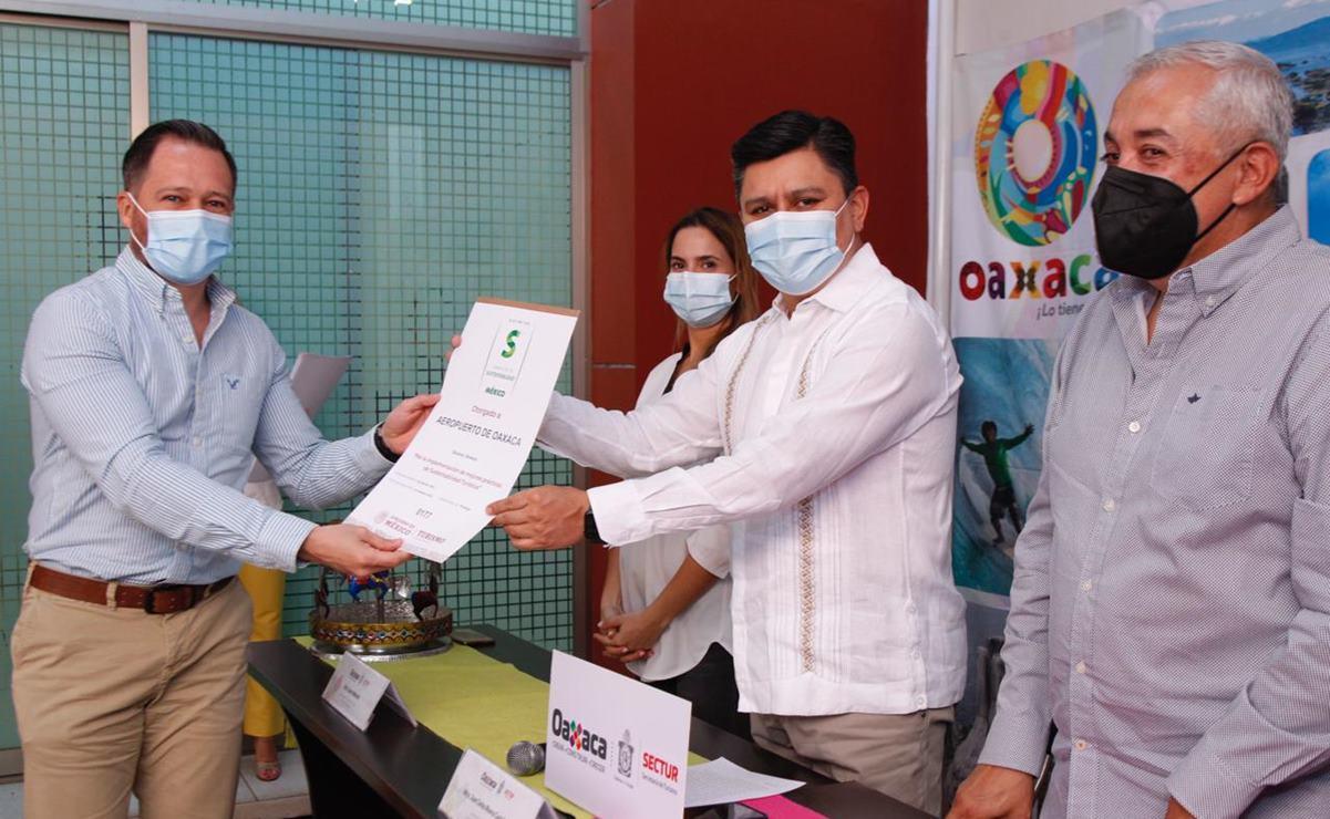 Por cuarto año consecutivo, recibe Aeropuerto Internacional de Oaxaca distintivo de sustentabilidad