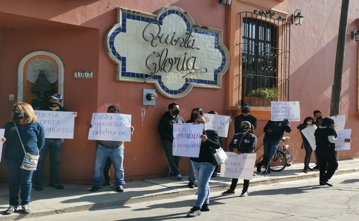 Se enfrentan grupos del Sindicato de Trabajadores del Estado de Oaxaca por renovación de dirigencia; denuncian corrupción