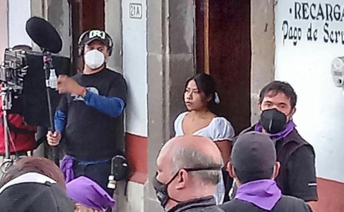 Inicia Yalitza Aparicio rodaje de su segunda película como protagonista en Tlalpujahua, Michoacán