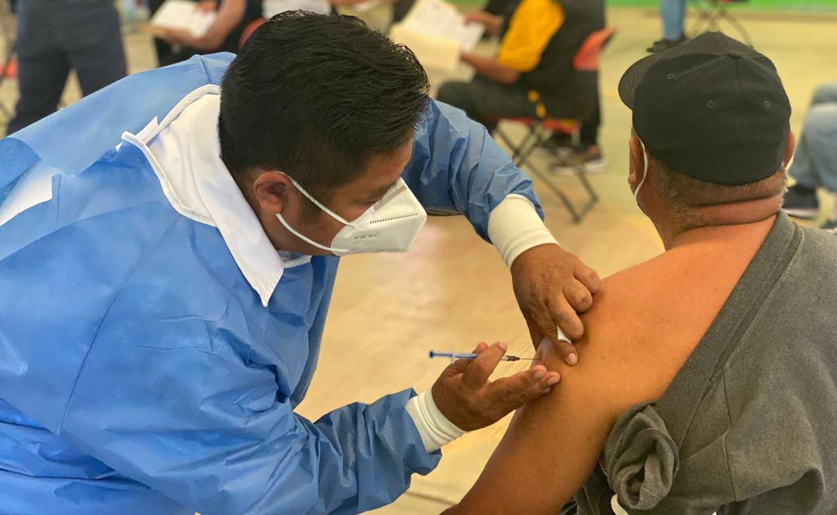 Tras protestas, arranca vacunación contra Covid-19 en municipios conurbados de la ciudad de Oaxaca