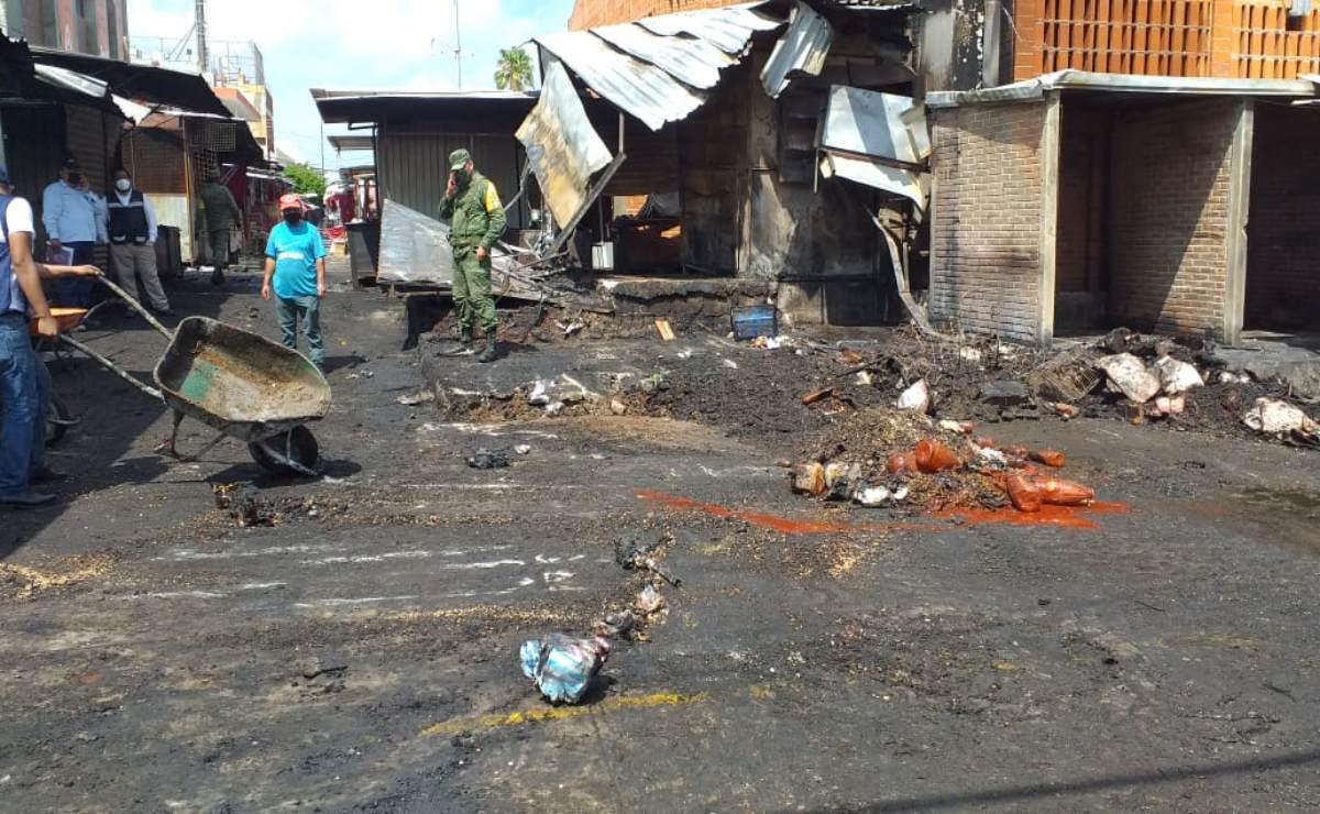 Pandemia y ahora un incendio dañan las ventas de al menos 60 comerciantes zapotecas de Juchitán