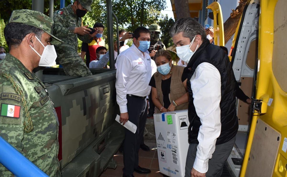 Se ha vacunado contra el Covid-19 a 87 mil 500 adultos mayores en Oaxaca, la tercera parte del total