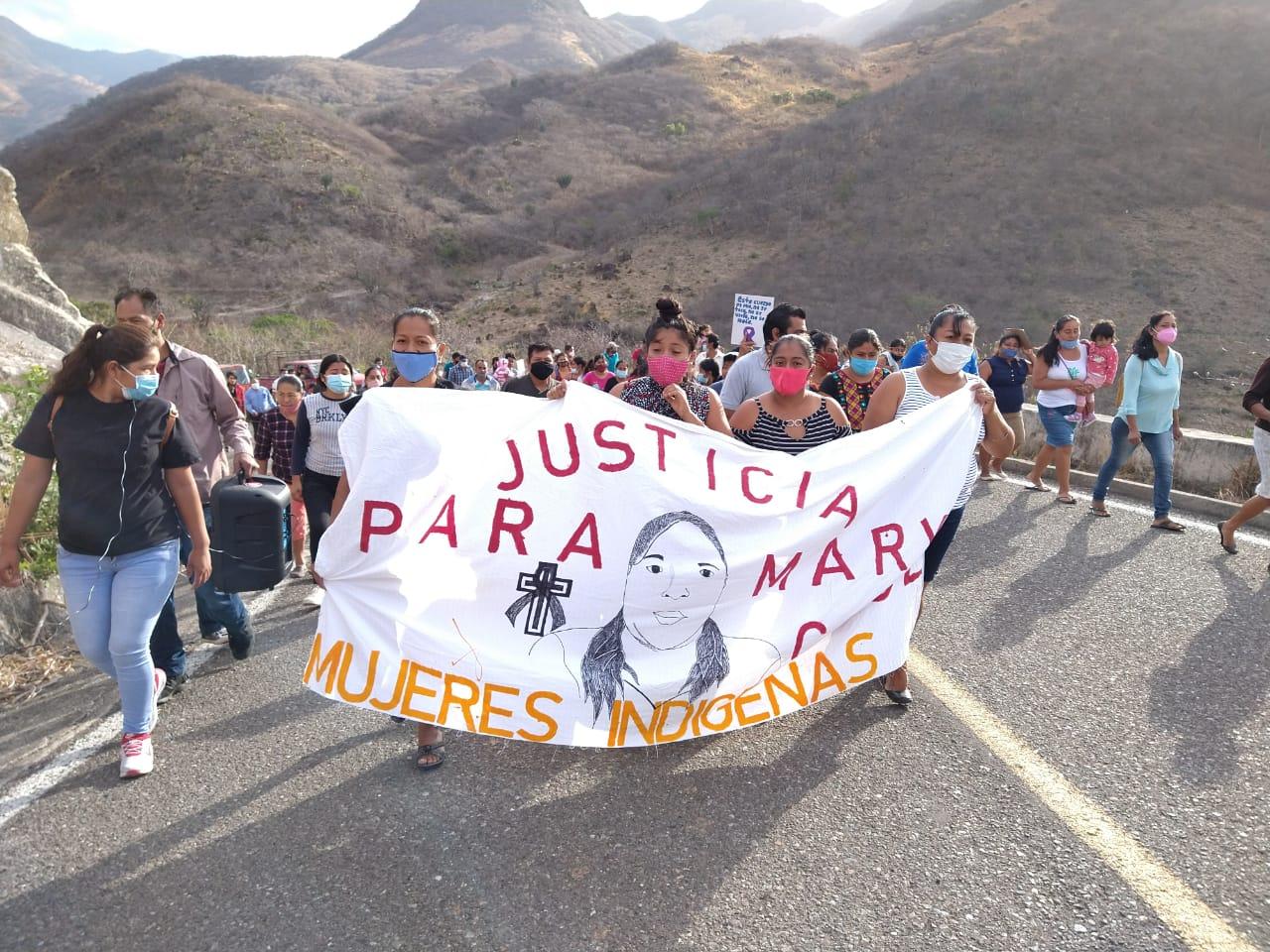Marchan en el Istmo para exigir que el asesinato de Mary Cruz sea castigado como feminicidio