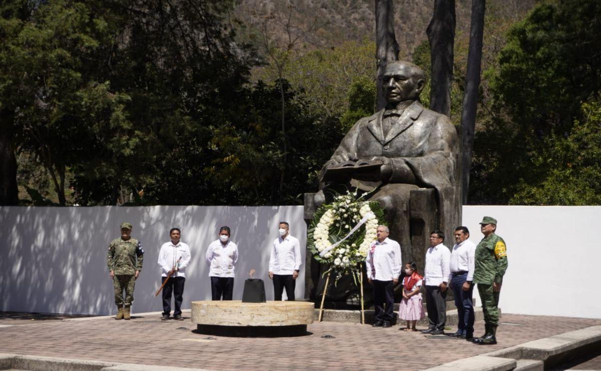 Convoca Murat a la unidad nacional en visita de AMLO a Oaxaca para conmemorar a Juárez