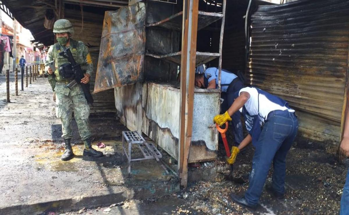 Calculan en más de 7 millones de pesos pérdidas de comerciantes por incendio en Juchitán