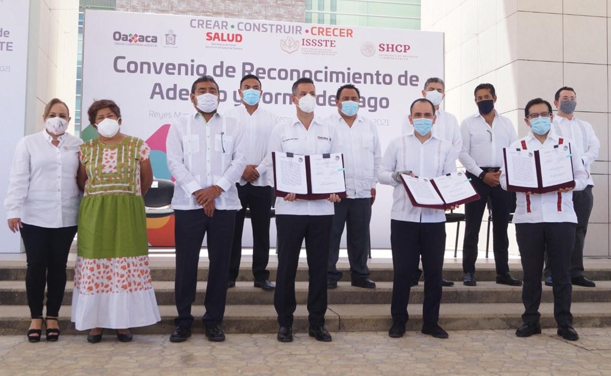 Gobierno de Oaxaca entrega formalmente Hospital de la Mujer al ISSSTE, para pagar deuda de 600 mdp