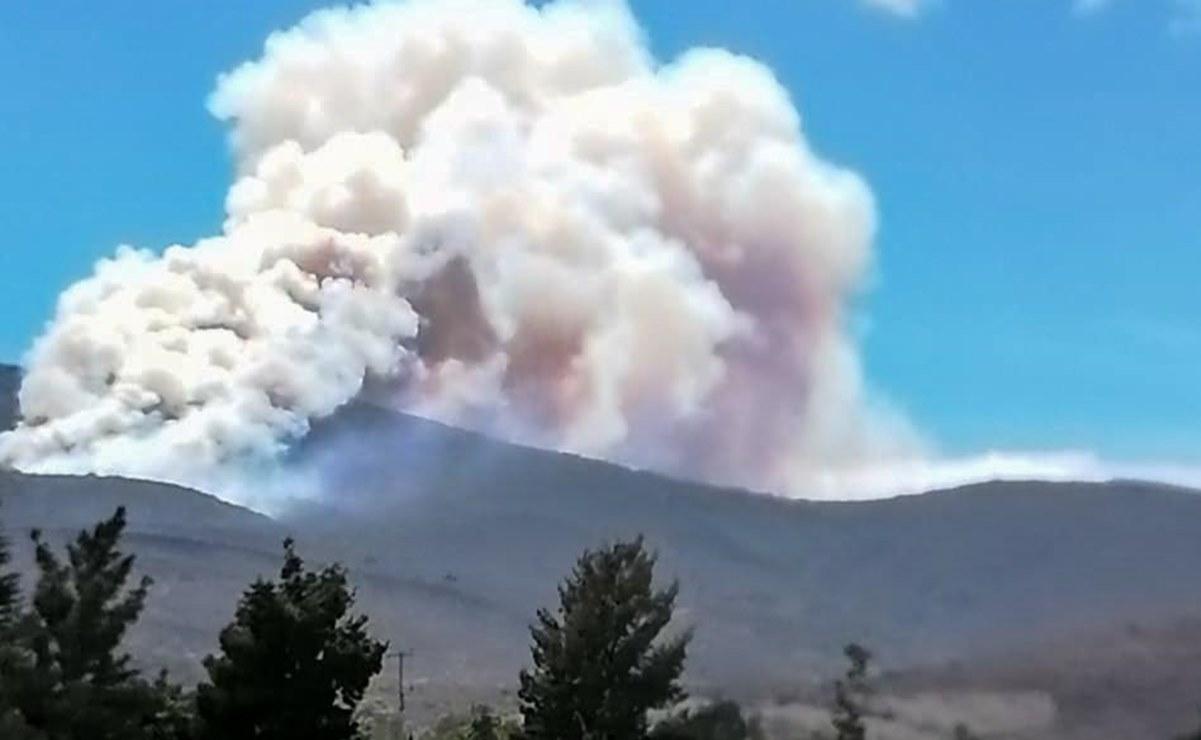 Reportan fuego en San Simón Almolongas; suman 91 incendios forestales en Oaxaca