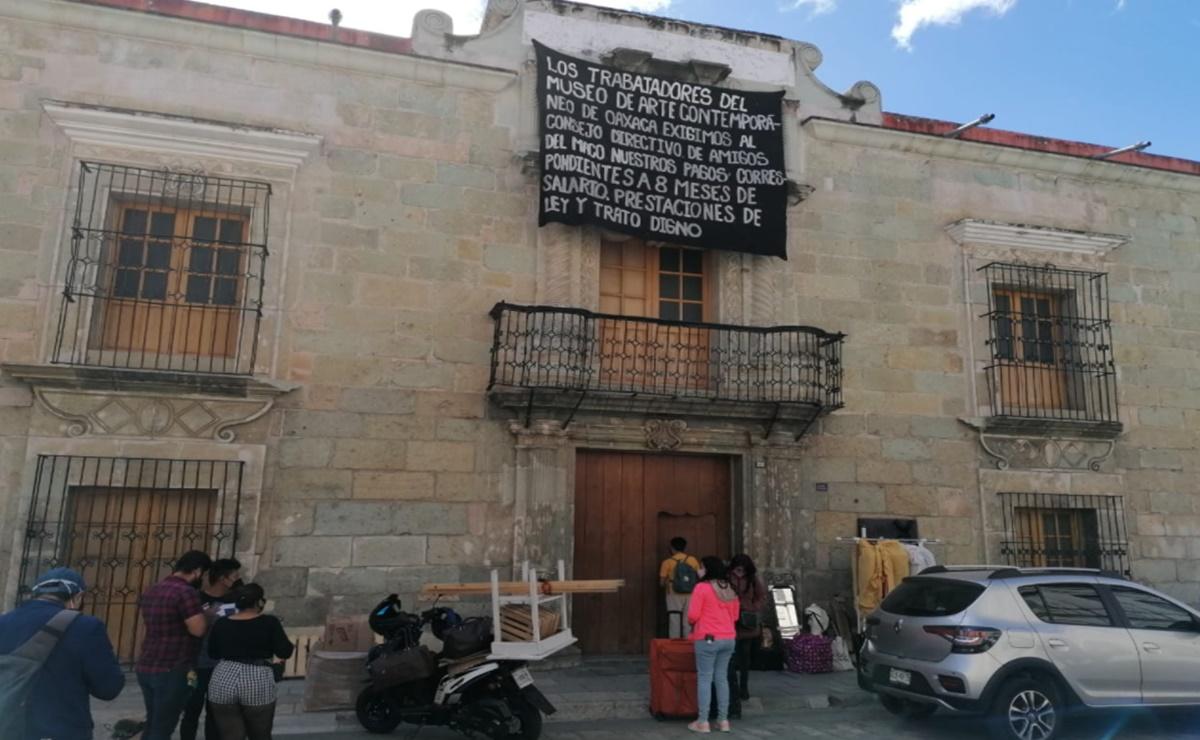 """Escala conflicto en Museo de Arte Contemporáneo de Oaxaca; piden audiencia con Murat por """"actos represivos"""""""