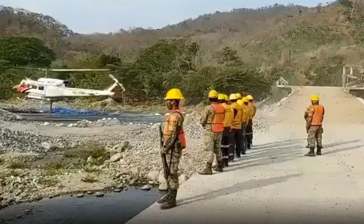 Después de ocho días y con dos aeronaves, logran controlar incendio forestal en la Costa de Oaxaca
