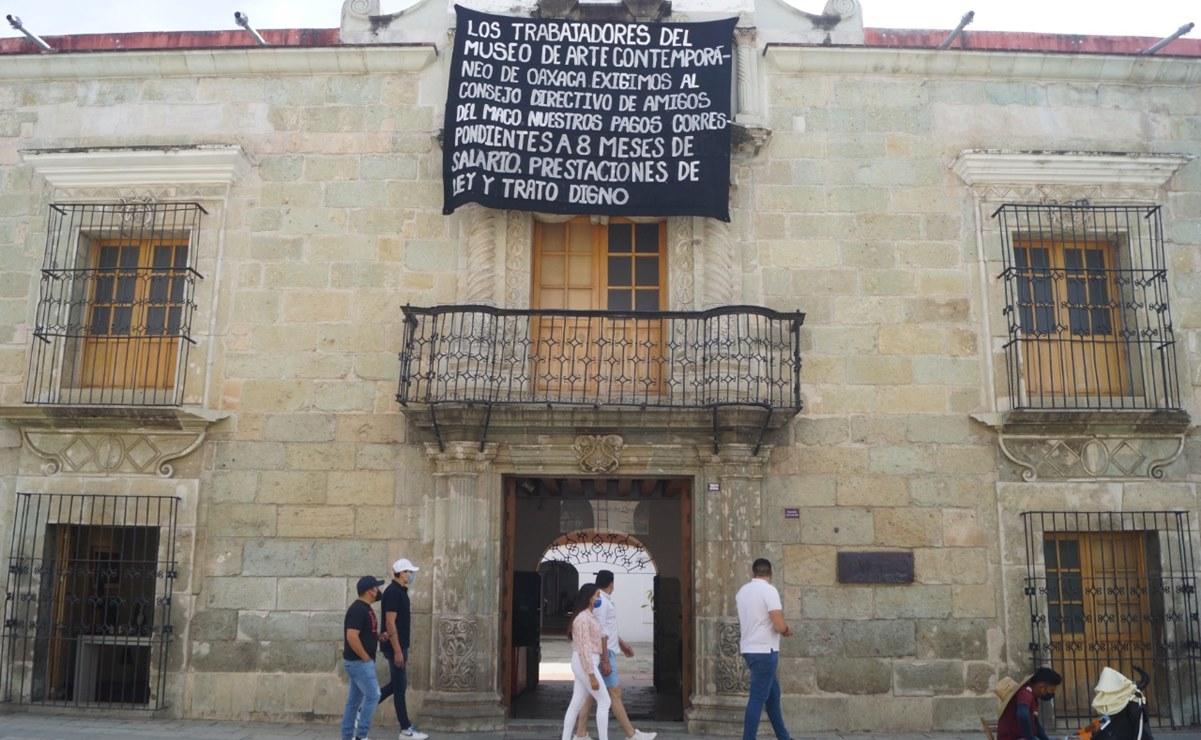 Trabajadores del Museo de Arte Contemporáneo de Oaxaca piden ayuda urgente a Murat para rescate del espacio