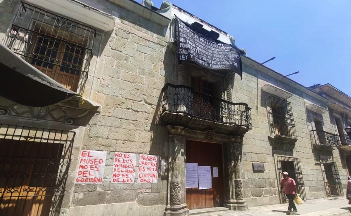 """""""Gobernador, ayúdenos a mantener activo el Museo de Arte Contemporáneo de Oaxaca"""", piden empleados"""
