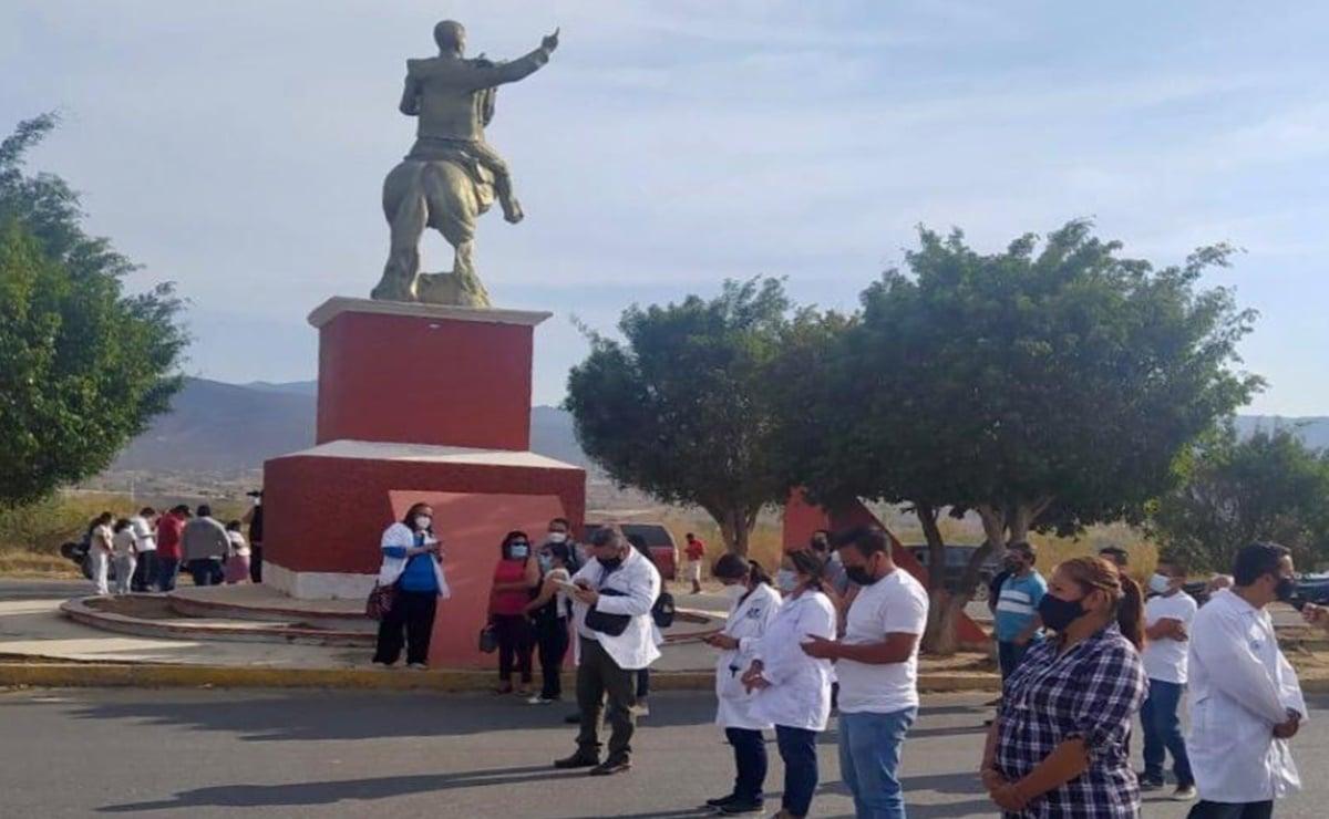 Médicos del sector privado de Miahuatlán, en la Sierra Sur de Oaxaca, exigen ser vacunados contra Covid-19