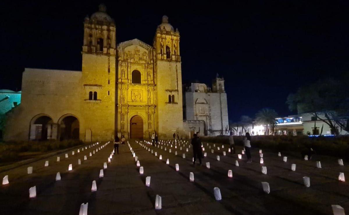 Con la luz de 200 velas, piden paz y esperanza ante violencia e inseguridad en Oaxaca