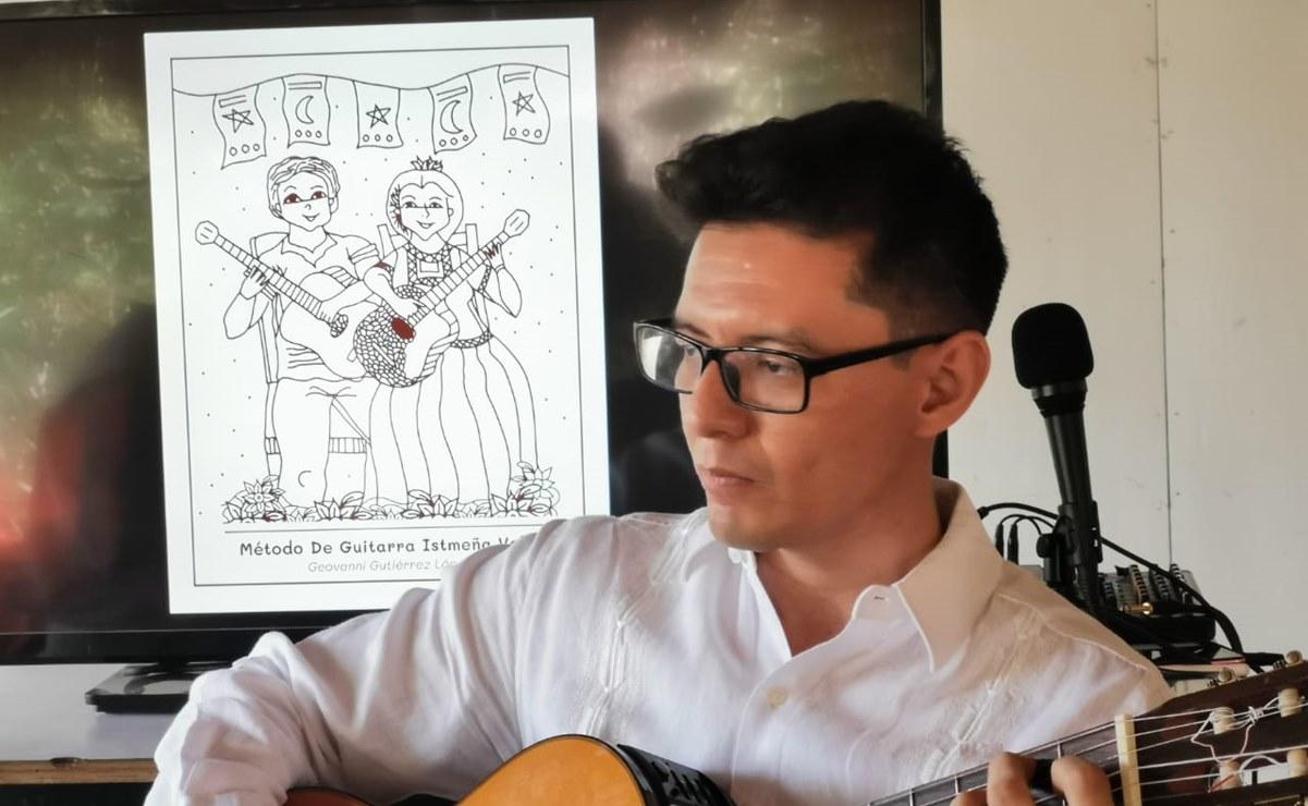 En Oaxaca, crean método de guitarra para que niños aprendan música tradicional del Istmo