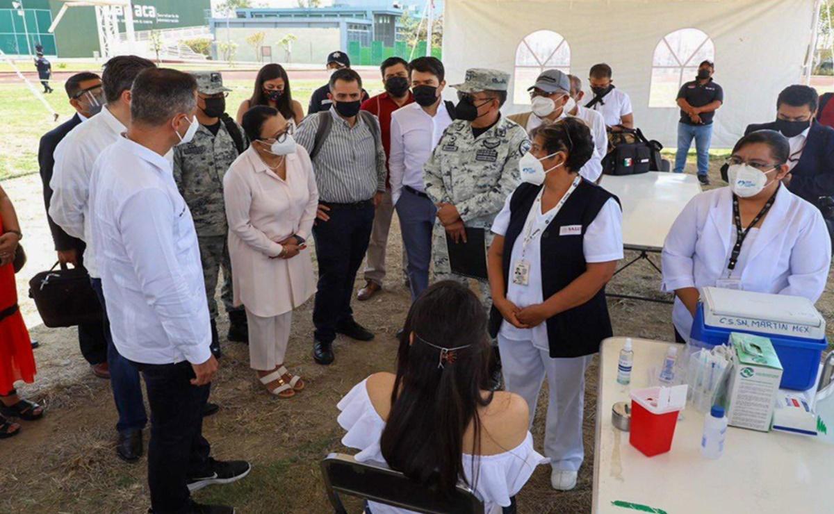 Proyecta federación vacunar contra Covid-19 a más de 117 mil trabajadores de la educación en Oaxaca