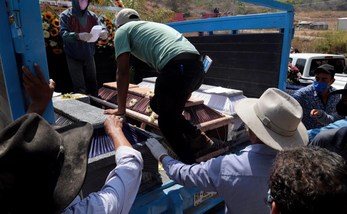 Despiden en Sola de Vega a 5 víctimas de ataque armado en la Sierra Sur de Oaxaca