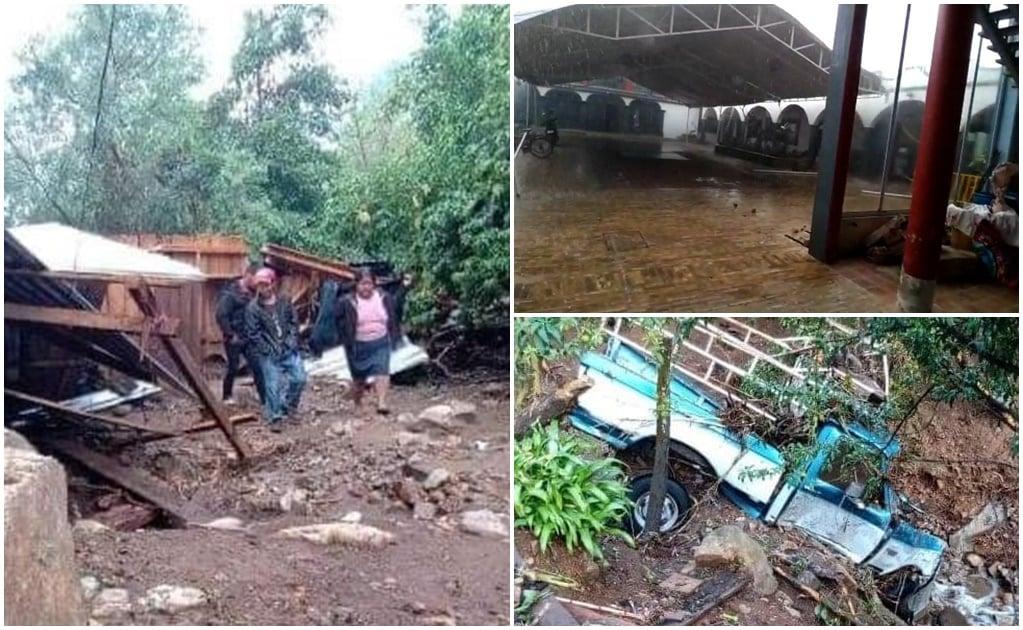 Confirma Protección Civil de Oaxaca pérdidas materiales por desborde de arroyos en Zimatlán