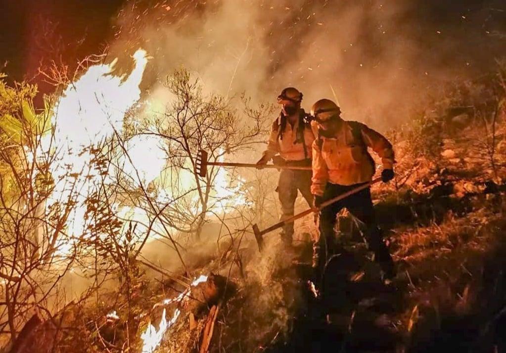 Brigadistas forestales de Oaxaca celebraban su día combatiendo 5 incendios activos