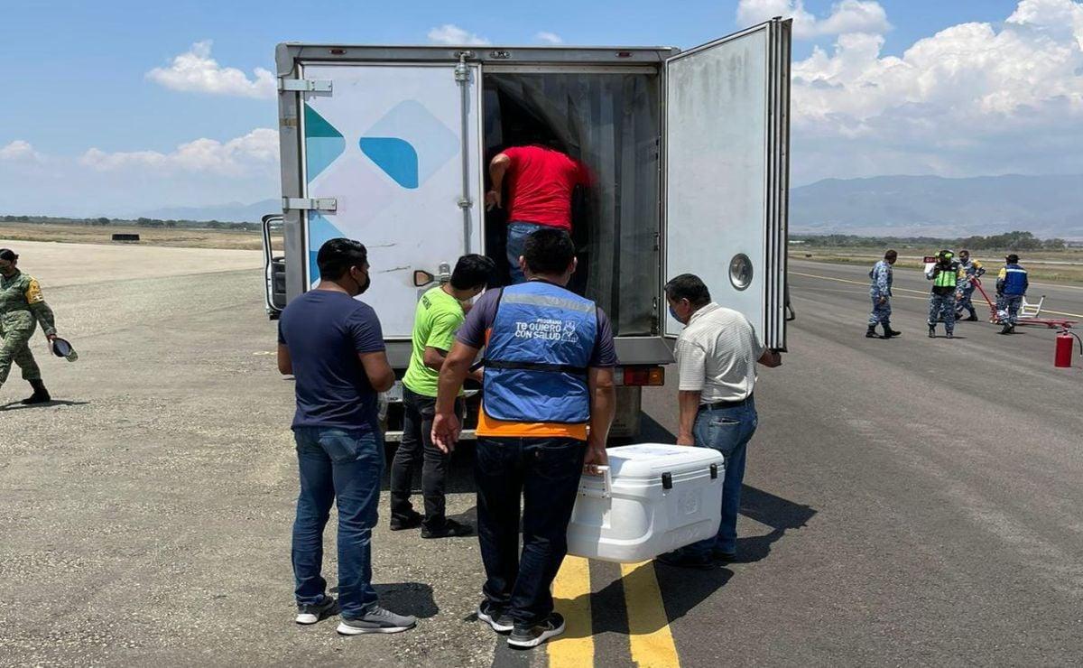 Llega a Oaxaca cargamento  de 57 mil dosis de Sinovac; 400 mil oaxaqueños ya se han vacunado