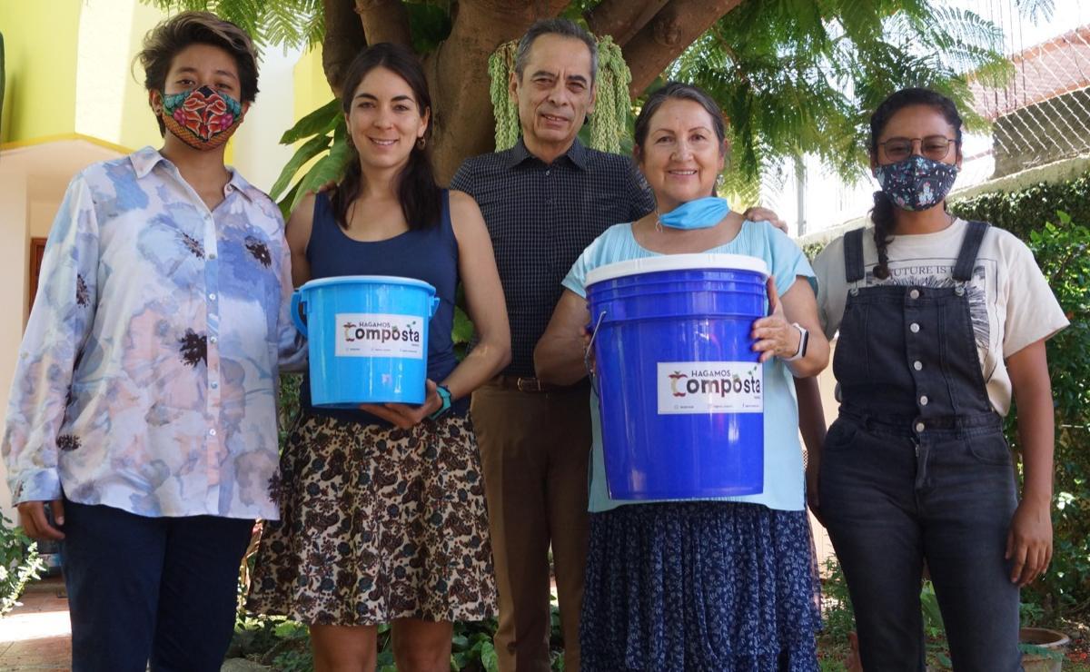Mujeres de Oaxaca crearon primera red de recolección de residuos orgánicos para hacer composta