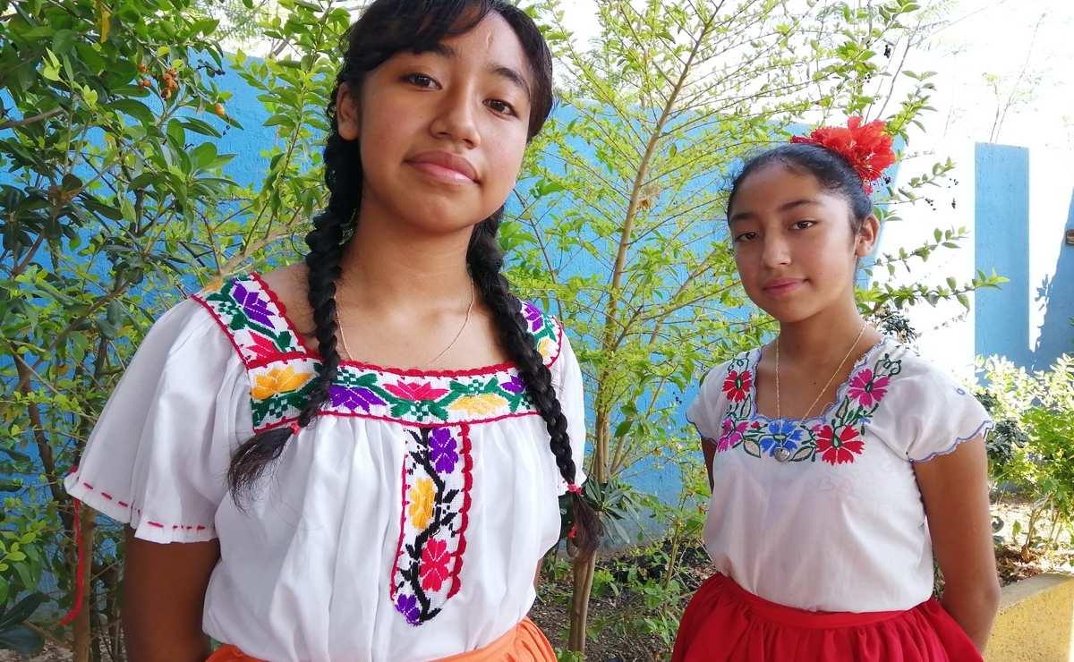 Con 13 y 14 años, dos niñas de Oaxaca defienden derechos humanos, para que no se imponga el silencio
